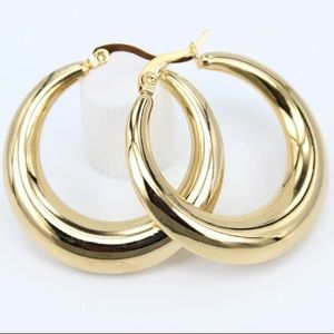 18K Gold Plated hoop earrings